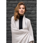 wrap stole in 100% knitted cashmere