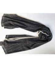diamond stripe border black and white scarf