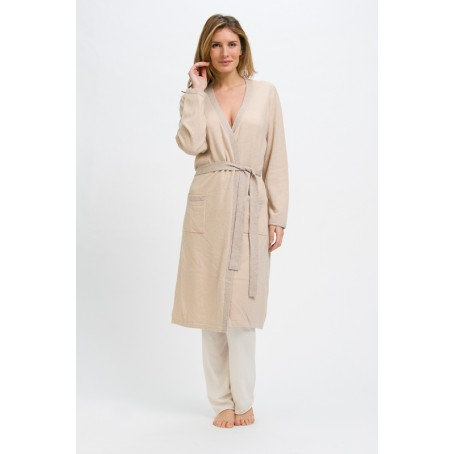 cashmere kimono-style night suit for woman